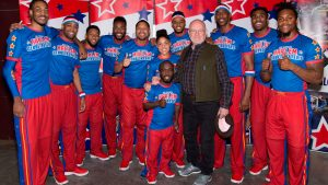 Peter Herschend with Harlem Globe Trotters