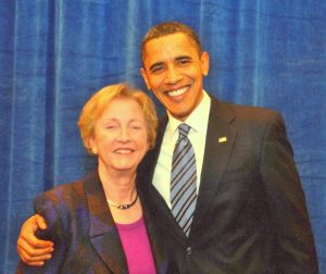 Jean Carnahan with Barack Obama