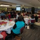 Wide-angle view of luncheon during Collaborative Diversity Conference.