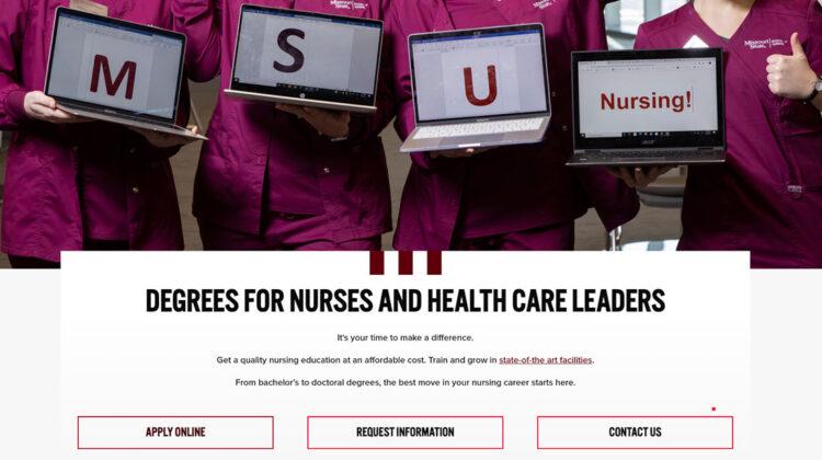 School of Nursing homepage